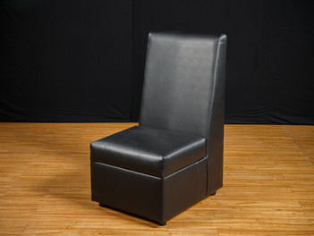 Black Leather Smooth Highback Chair