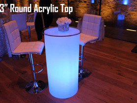 """23"""" Round Acrylic Top - Clear"""