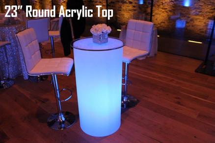 23 Round Acrylic Top