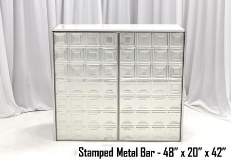 Stamped Metal Bar