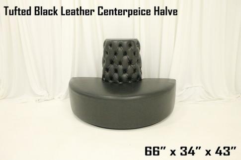 Tufted Black Leather Centerpeice Halve
