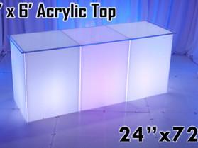 2' x 6' Acrylic Top - Clear