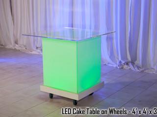LED Acrylic Cake Table