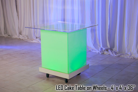Acrylic Cake Table