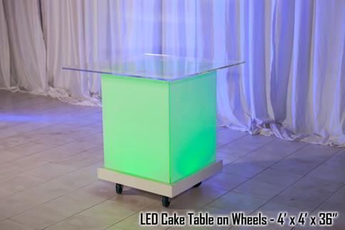 Acrylic Cake Table