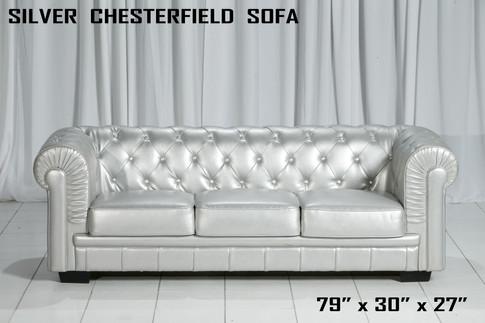 Silver Chesterfield Sofa