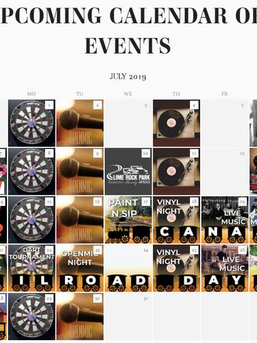 Website Calendar Graphic
