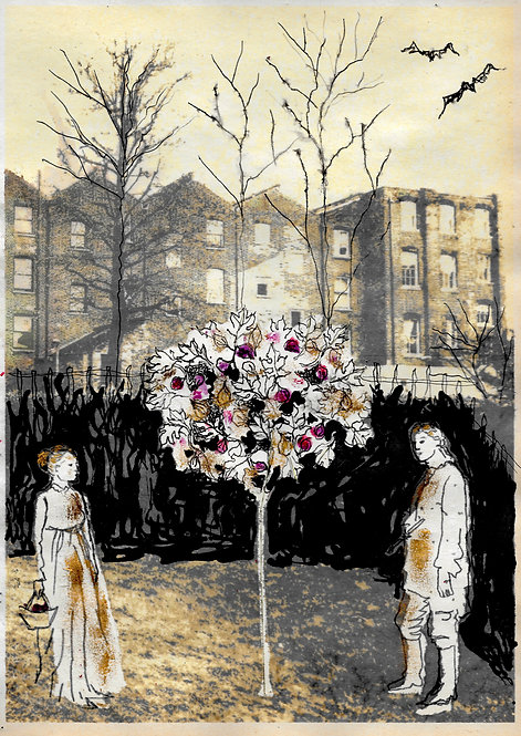 Artwork: William & Catherine Blake in their Lambeth garden
