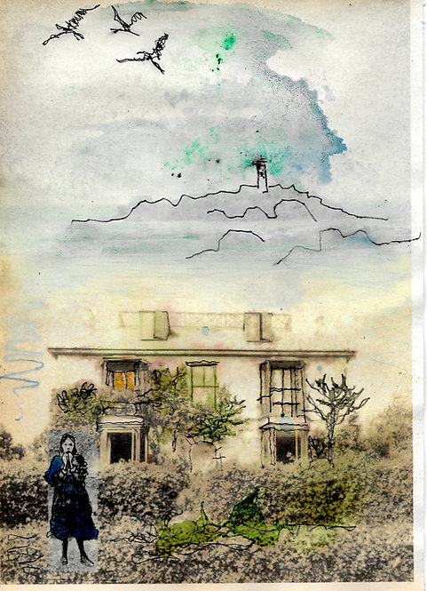 A4 print: Virginia Woolf at Talland House, St Ives, Cornwall