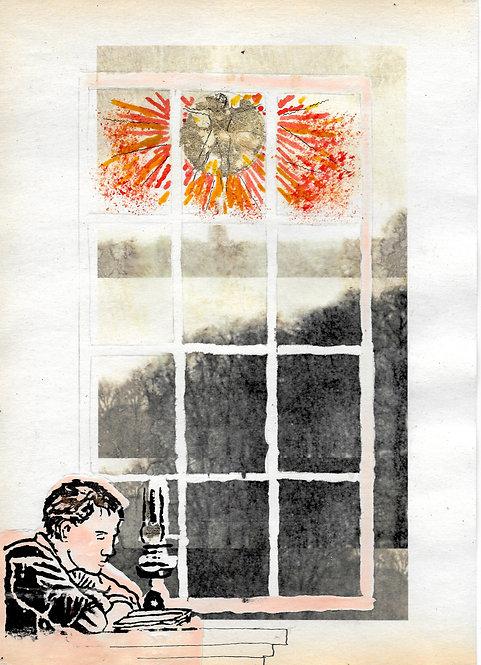 Artwork: William Blake at South Molton Street, writing Jerusalem