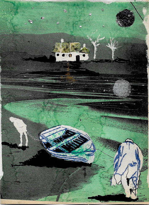 Artwork: Maurice & Barnet bring in the boat