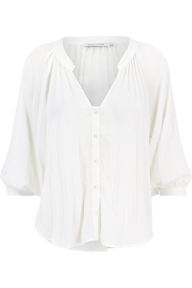 3/4 SLEEVE PLEAT BLOUSE