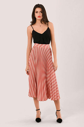 PEACH STRIPE SKIRT