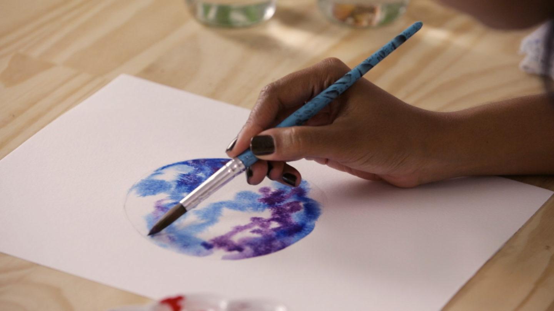 Pintura com Aquarela