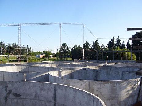 Tanques redondos de cemento, mejoró el r