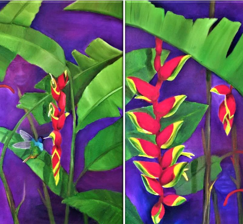 Díptico: Flor del tayutic pareidólica