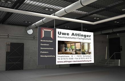 Baustellenbanner Raumausstattung Attinger