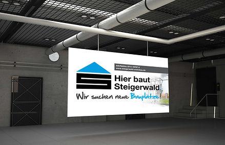 Baustellenbanner Steigerwald Wohnbau Kemnat