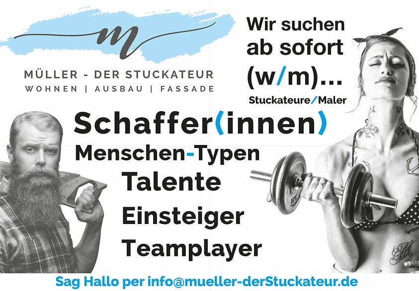 Stellenazeigen Stuckateur/Maler Müller der Stuckateur