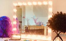 light-up mirror