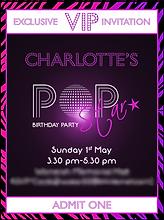 Pop Star Invitaion