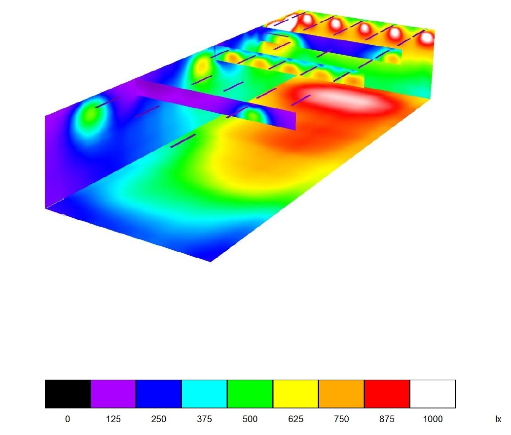 BNR Products - Dialux Light simulation - Technical Airborne Components