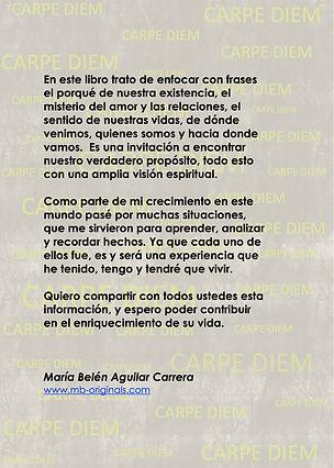 Back cover bok Carpe Diem Spanish