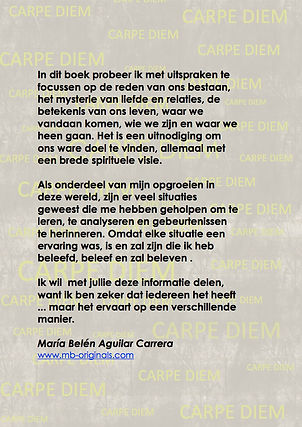 Back cover book Carpe Diem Dutch