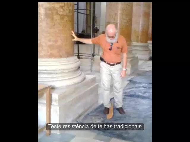 Teste de resistência de telhas tradicionais