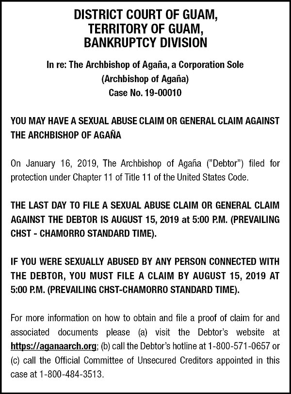 Archdiocese Publication of Notice of Bar