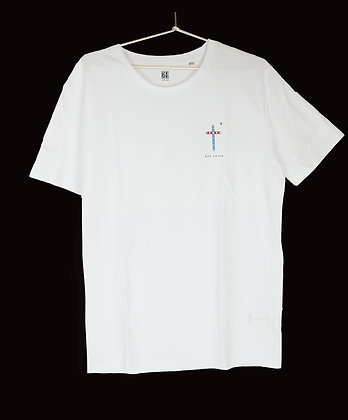 """T-Shirt """"Croix RER"""" Blanc - Coupe femme"""