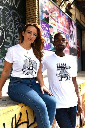"""T-Shirt """"Phénix"""" & """"Guerrier"""" Smaïl Kanouté / Unisex"""