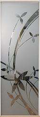 Двери-купе с пескоструйным рисунком на зеркале в СПб, двери-купе на заказ