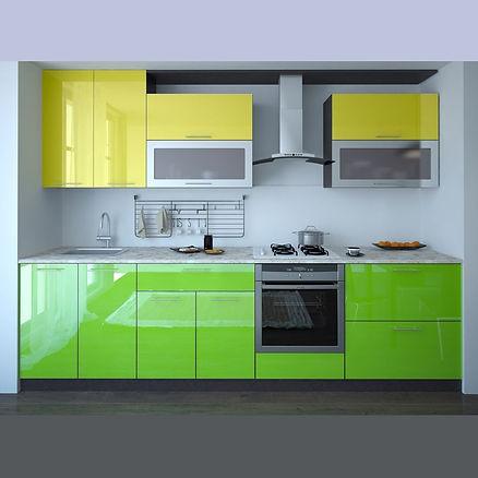 Кухня с пластиковыми фасадами в кромке ПВХ