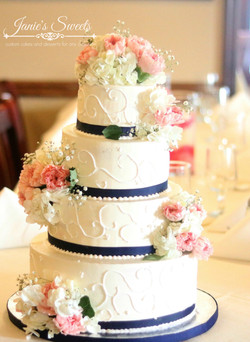 Blue and pink wedding cake-2