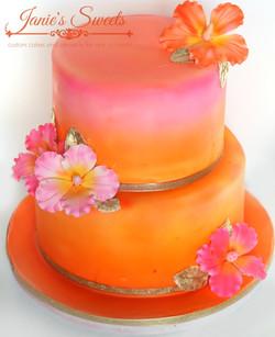 Elegant Hawaiian cake