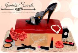 Stiletto Shoe Box cake