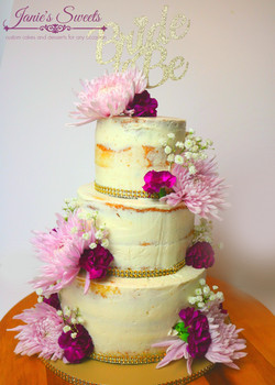 Purple Naked Wedding cake