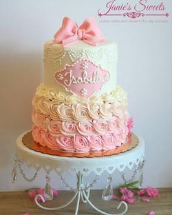 Welcome baby Isabella 😄__#pinkcake #pink #lavender #purple #cakesforher #cake #cakes #cakeideas #fo