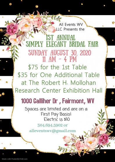 Copy of Floral stripe theme party invita