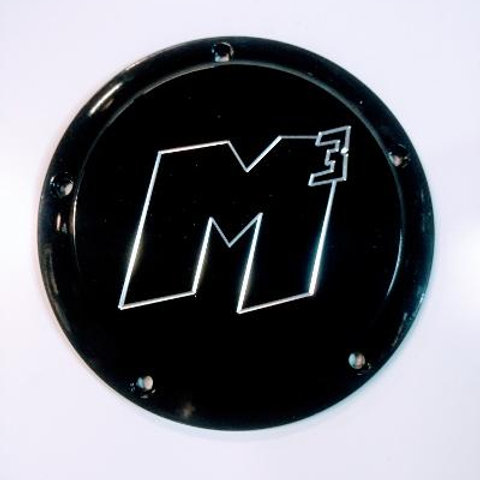 M3 One Piece Billet Low Profile Derby M8 Lock Up Cover