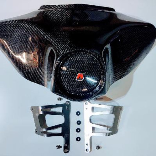 Real Carbon Mad Monkey Motorsports Race Fairing with mounts