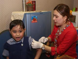 Vaksinansi Campak Boster Siswa Kelas 1 FE-P & SD Jubilee