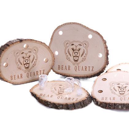 Bear Quartz Wood Stand