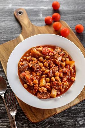 Chorizo-Pork-Belly-and-Chickpea-Casserol
