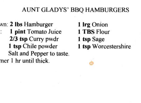 Aunt Gladys' BBQ Hamburgers