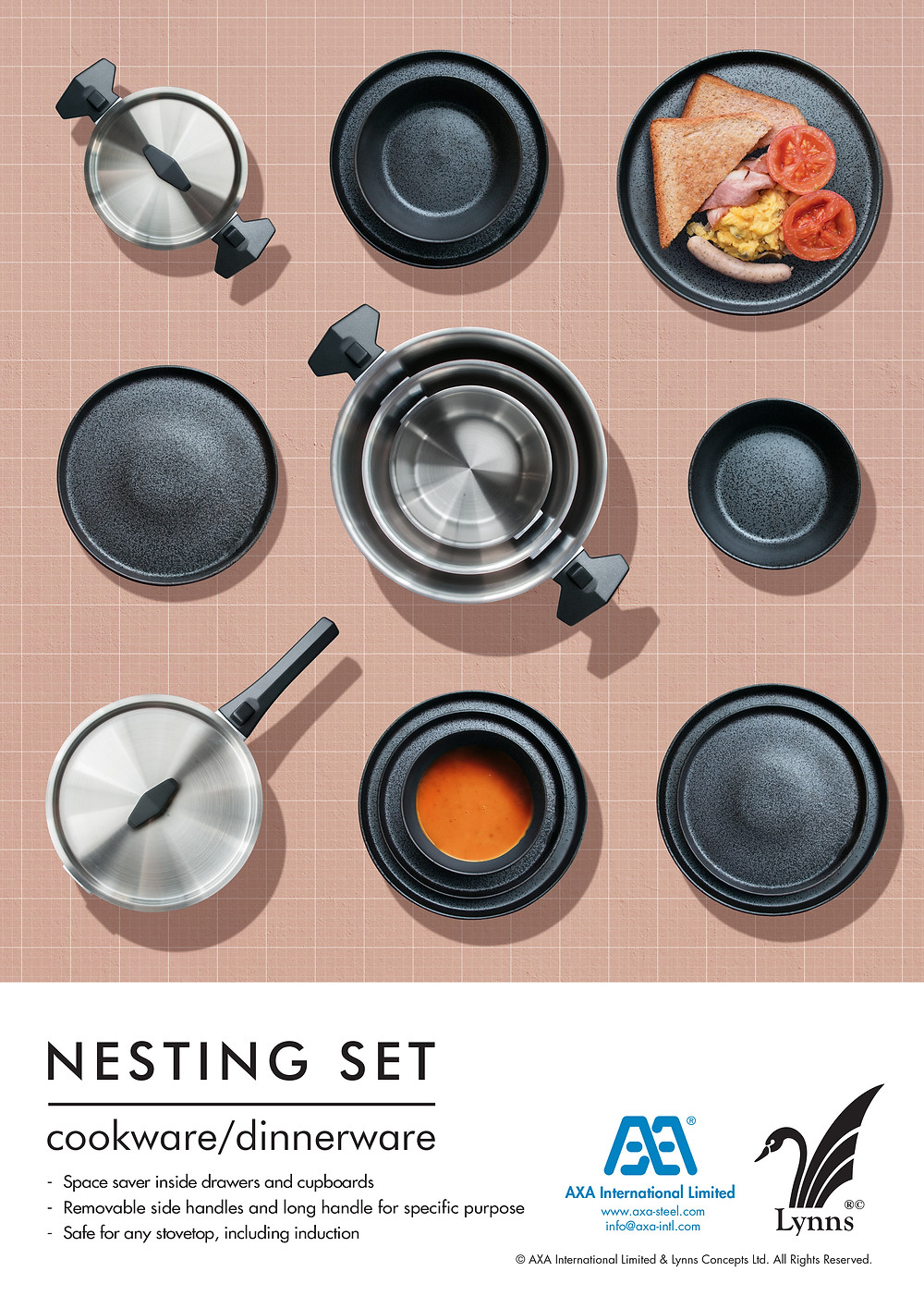 nesting set for cooking and serving