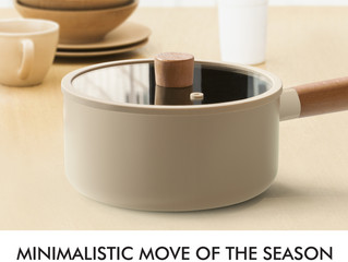 MINIMALISTIC MOVE OF THE SEASON - New fashion saucepan with wooden handle in beige