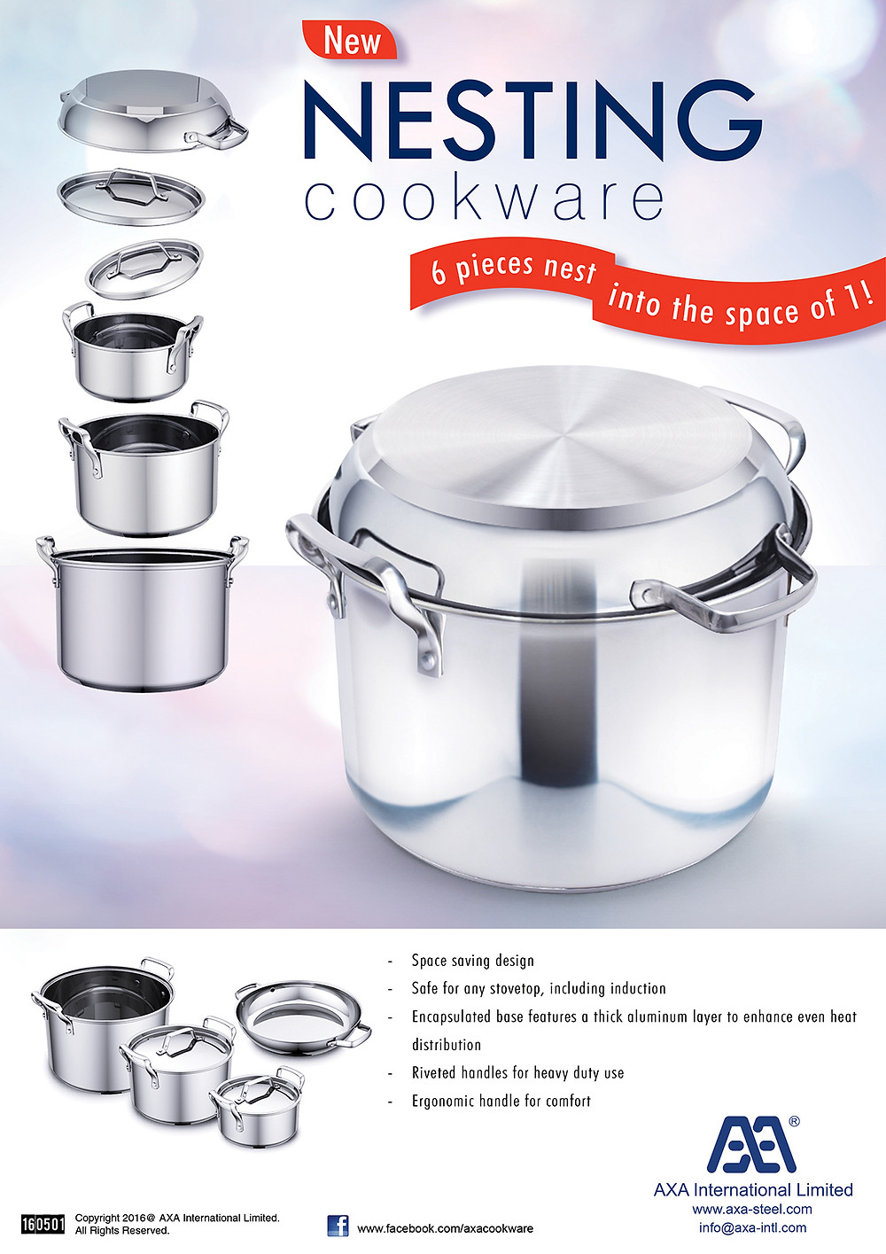 Nesting cookware