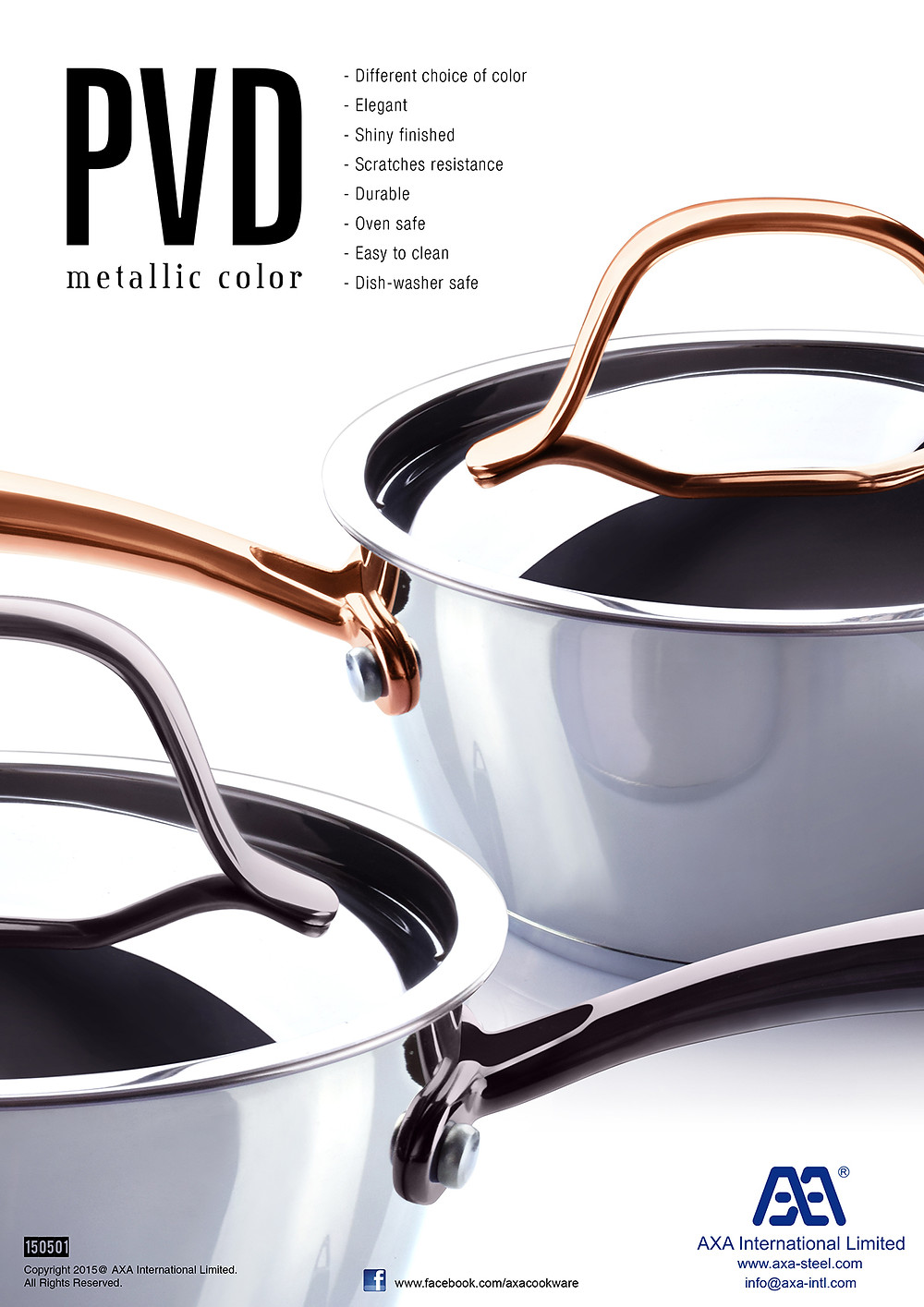 PVD colored handle